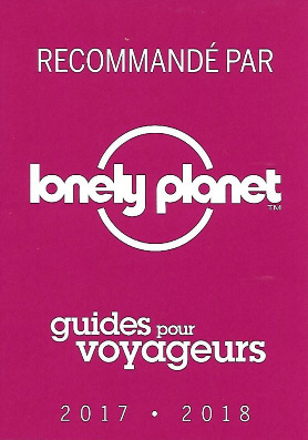 Recommandé par Lonely Planet 2017-2018